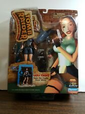 Tomb raider lara croft action figure faces the deadly great white