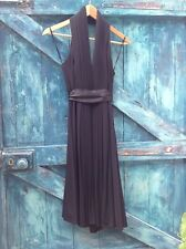 womens dress size 8  black halterneck sexy evening party Coast designer vgc