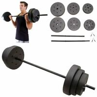 100 Lbs Weight Set 10-15-25 Plates 1 Bar Collars Full Body Workout Home Gym NEW