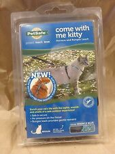 PETSAFE COME WITH ME KITTY HARNESS & BUNGEE LEASH MEDIUM BLUE W/ GLITTER 155602