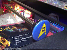 Star Trek Pinball  Blue Insignia Custom Pinball Shooter Rod!
