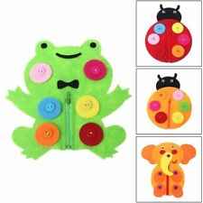 Creative Baby Hand Zipper Teaching DIY Weave Cloth Early Education Toys Supply