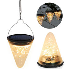 Waterproof Solar Hanging Lantern Light Patio Garden Cone Led Fairy String Lamp