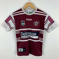 Manly Sea Eagles NRL Jersey Youth Medium Reebok Made In Australia Short Sleeve