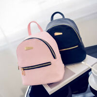 Women Girls Mini Faux Leather Backpack Rucksack School Bag Travel Handbag Lot