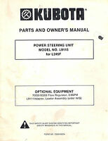 KUBOTA L9115  POWER STEERING UNIT PARTS and OWNER'S MANUAL for L245F Tractor