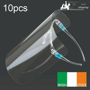 10pcs Protective Full Face Mask Shield Cover Transparent Clear Visor IE Stock