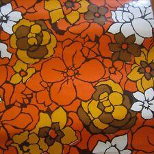 29cm x 21cm Con-Tact Orange Retro Floral Vintage Contact Decor Paper 1960s new