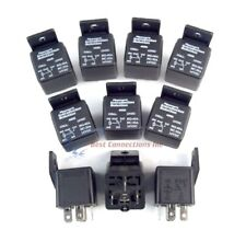 10 Pack Audiopipe 12 Volt 5 Pin SPDT 30 - 40 Amp Relay Socket Auto Car Truck