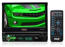 "Pyle PLBT72G 7"" In-Dash Motorized Touchscreen LCD Monitor w/ DVD/CD/USB/SD, GPS"