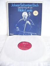PABLO CASALS - BACH Suites for CELLO SOLO - 3 LP Box Dacapo NM !