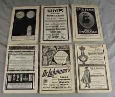 6 x alte Papier Reklame - Werbung von WMF - GALA PETER - ZIGARREN u.a. (2) /S249