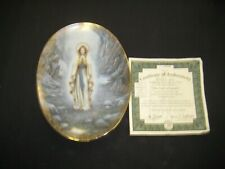 "Bradford Exchange Beautiful Limited Gold Trim Plate ""Our Lady Of Lourdes"""