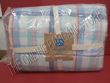 Pottery Barn Teen Newport Plaid Bed Quilt F/Q full queen 2 Pillow Sham Standard