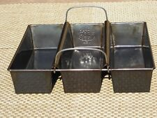 ANTIQUE VINTAGE 3 COMPARTMENT COSTA BREAD TIN BAKING PAN. PAT OCT 19TH 1909 USA