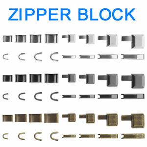 12pcs Nickel Metal Zipper Repairing Closed-end Repair Kit 3-Color 3#5#8#10# set