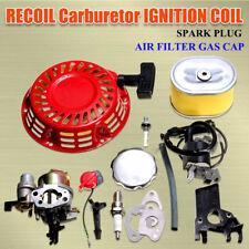 Recoil Carburetor Ignition Coil Spark Plug Air Filter Kit For Honda GX160 GX200