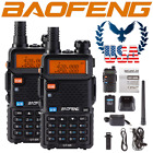 US 2x Baofeng UV-5R Upgraded GT-5R Dual-Band VHF UHF Transceiver Two-way Radio