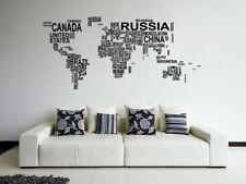 ik1347 Wall Decal Sticker world map Bedroom Living Room
