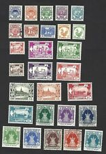BURMA 1949, 1st ANNIVERSARY OF INDEPENDENCE SET OF 28 STAMPS, CAT £32+, VGU/MH
