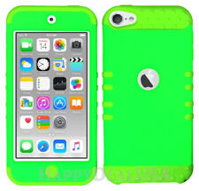 For Apple iPod Touch iTouch 5 6 - KoolKase Hybrid Silicone Cover Case LIME GREEN