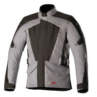 Alpinestars Volcano Waterproof Drystar Motorcycle Motorbike Jacket Black Gray