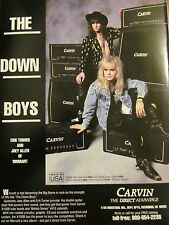 Warrant, Carvin Speakers and Equipment, Erik Turner, Full Page Promotional Ad