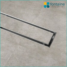 Shower Grate Tile Insert Removable Drain Catcher Stainless Steel Marine 1200