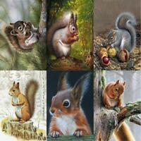 5D DIY Full Drill Diamond Painting Squirrel Cross Stitch Mosaic Craft Kits