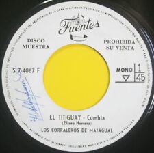 """LOS CORRALEROS DE MAJAGUAL """"El Titiguay"""" KILLER CUMBIA PORRO GAITA 60s Mint COL"""
