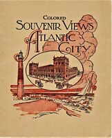 Vintage Colored Souvenir Views Atlantic City advertising booklet New Jersey