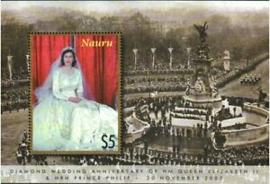 Nauru Stamp - Queen Elizabeth, 60th wedding anniversary Stamp - NH