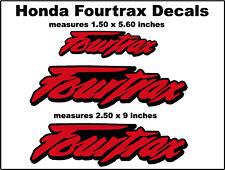 Decals for Honda Fourtrax Trx250r Trx450r Trx400 400ex 300ex 250x Trx90 rd/bk