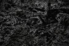 "VELVET PANNE CRUSHED BACKDROP VELOUR STRETCH FABRIC 60"" WIDE BLACK BY THE YARD"