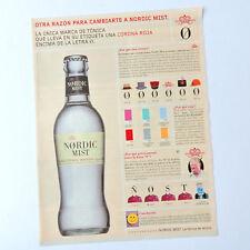 NØRDIC MIST / Advert Publicite Publicidad Reklame Tonic Water NORDIC Spanish Ad
