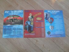 MIKE & THE MECHANICS - 3 different lovely tour flyers (Mint) GENESIS last set 3