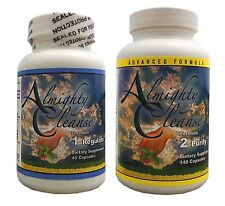 Almighty Cleanse 7-Day Detox Formula 1&2 Colon Cleanser Weight Loss Complete Kit