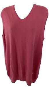 Lyle & Scott Golf Pink Cotton Sleeveless Jumper Tank Top Size Large