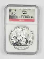 New ListingMs69 2013 China 10 Yuan - 1 Oz. Silver Panda - Graded Ngc *124