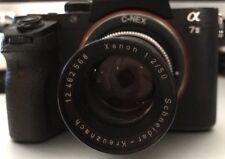 RARE* Schneider-Kreuznach Xenon F/2.0 50mm C-Mount Camera Lens•Germany•Black