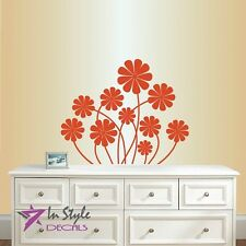 Wall Vinyl Decal Daisy Flowers Floral Pattern Nature Art Wall Sticker 761