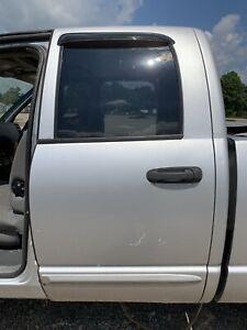 OEM Dodge Ram 1500 2500 Quad Cab Left Rear Door W/ Glass Visor Interior Panel