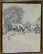IMPRESSIONIST -WINTERLANDSCHAFT -AQUARELL DATIERT DEZEMBER 1938