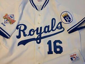 Bo Jackson 1989 Kansas City Royals Rawlings Authentic Home MLB Jersey Size 48