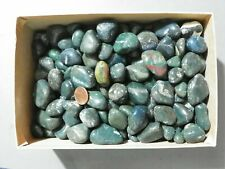 Bloodstone 5 Pounds Total Weight Tumbled Stones.  Mostly Green