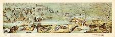 1899 Historic Map Mormon Pioneers Route Panoramic bird-eye view Art Poster Print