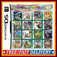 208 In 1 Multicart Cartridge Console Spielkarte für NDS NDSL 2DS 3DS NDSI