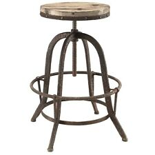 Modway Collect Wood Top Bar Stool - Brown