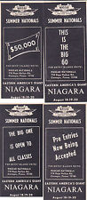 1967 SUMMER NATIONALS - NASCAR DRAG RACE DIVISION  -  (4) ORIGINAL SMALL ADS