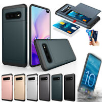 For Samsung Galaxy S10 S10E S10+ Plus Double Card Space Armor Strong Case Cover